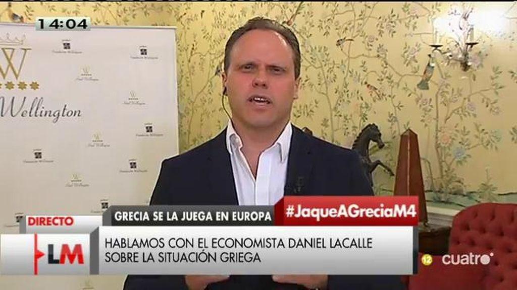 """Daniel Lacalle, sobre Grecia: """"Si quiere reestructurar la deuda, lo que no va a poder hacer es aumentar el gasto público"""""""