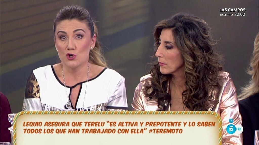 """Carlota Corredera, sobre Terelu: """"Es una curranta y una profesional"""""""