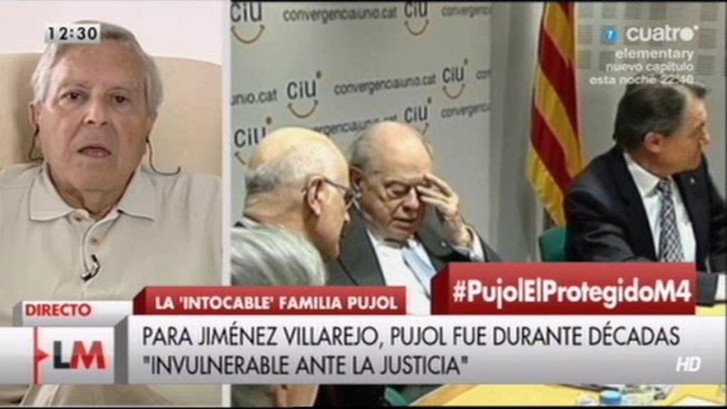 """Jiménez Villarejo: """"Pujol sigue teniendo protección institucional"""""""