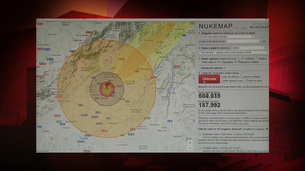 Misterio 4.0: Nukemap, el simulador de los efectos de una explosión nuclear