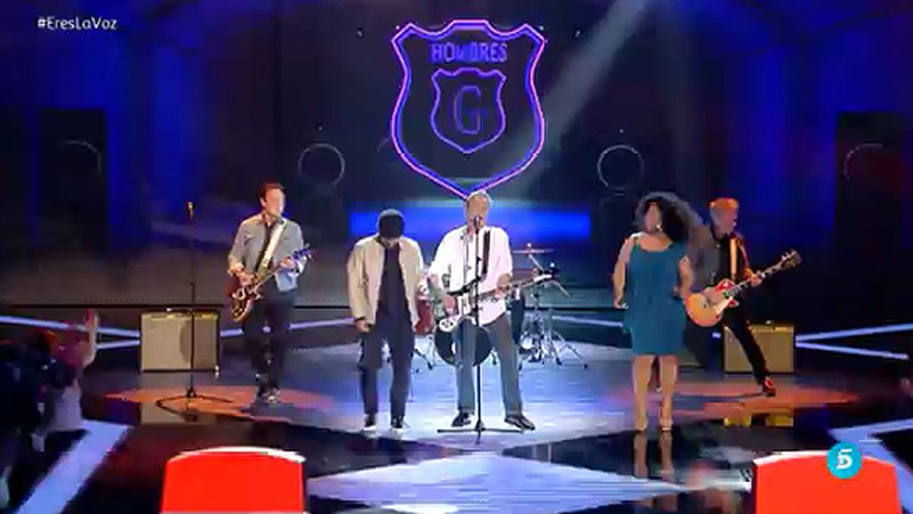 La actuación de 'Hombres G' en la semifinal de 'La Voz' con Diana y Joaquín