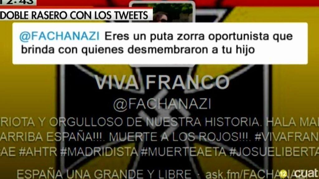 Los insultos y amenazas en Twitter a Pilar Manjón que la Fiscalía desestimó