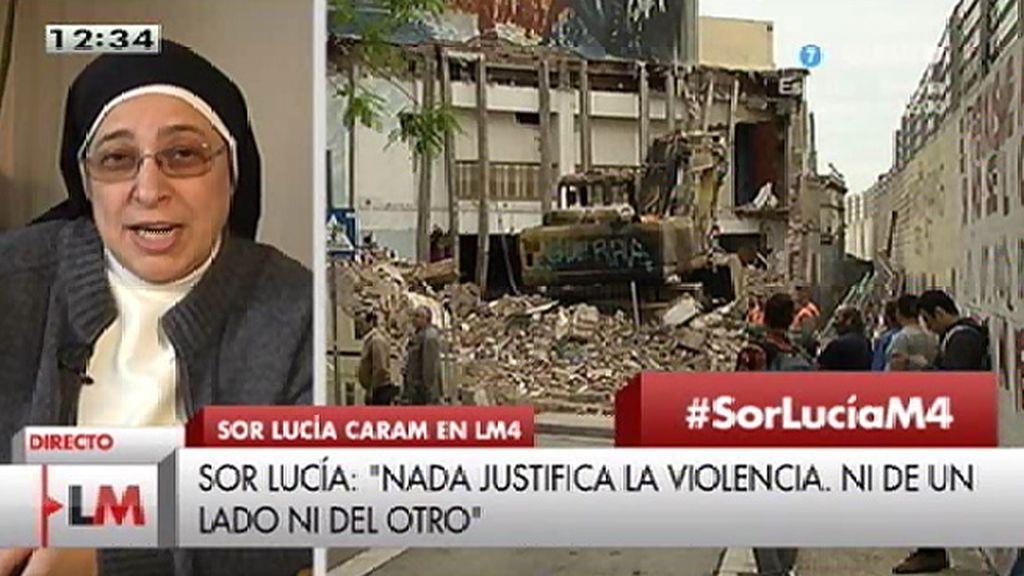 """Sor Lucía: """"Aquí ha faltado capacidad de diálogo pero también sobra mucha violencia"""""""