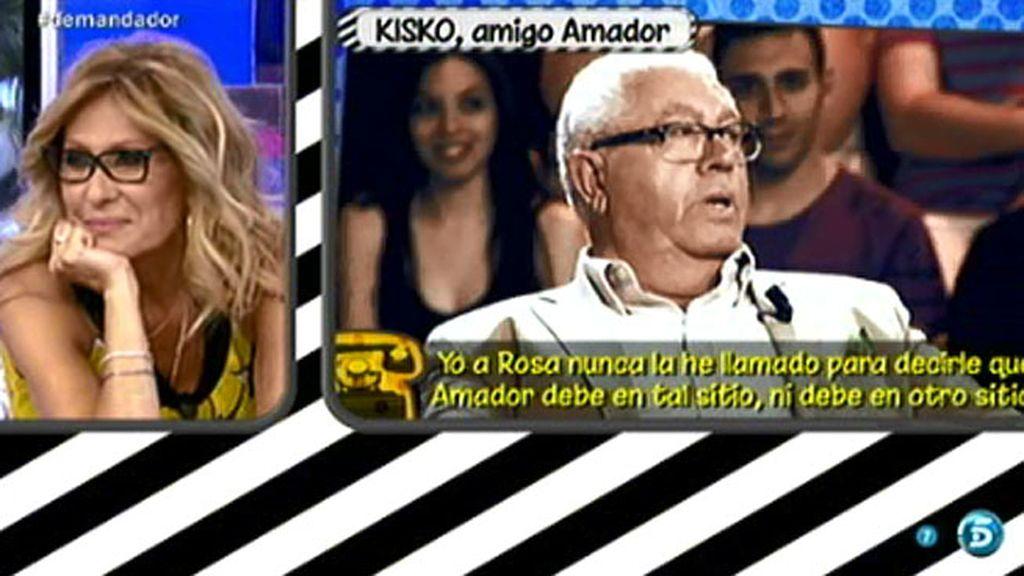 """Kisko, amigo de Amador: """"Le diría a Rosa Benito que fuese más coherente conmigo"""""""