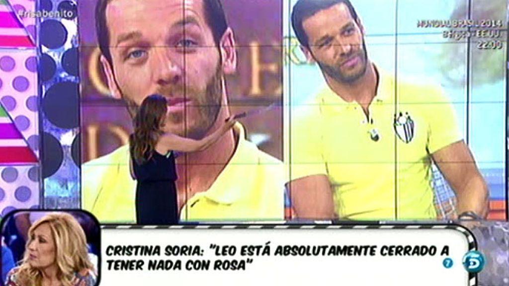 Según Cris Soria, los gestos de Leo le delatan: no quiere nada con Rosa