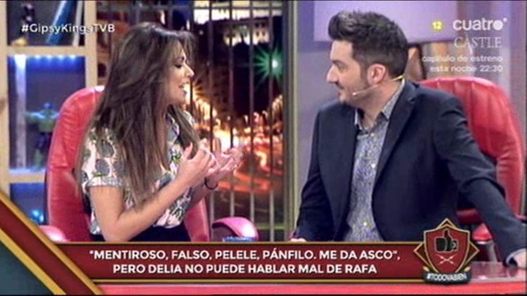 Lara Álvarez imita a 'Gollum, Gollum'