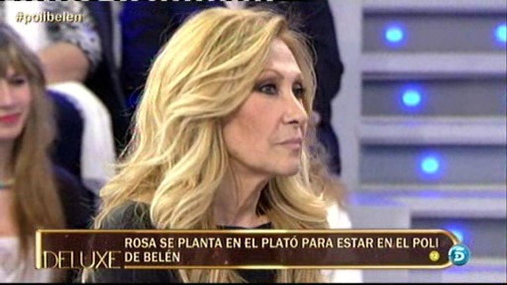 Rosa Benito se planta en el plató para estar en el polideluxe de Belén Esteban