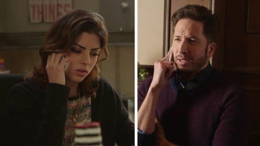 La tensa conversación entre Claudia y su exnovio Miguel