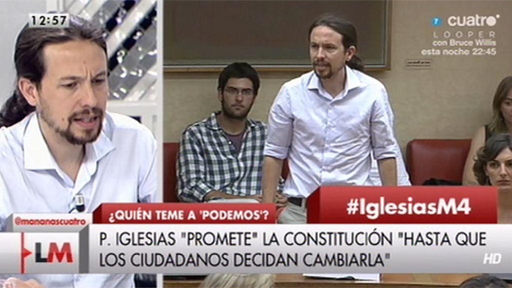 """Pablo Iglesias, sobre su fórmula para prometer la Constitución: """"Lo he hecho por respeto a los ciudadanos"""""""