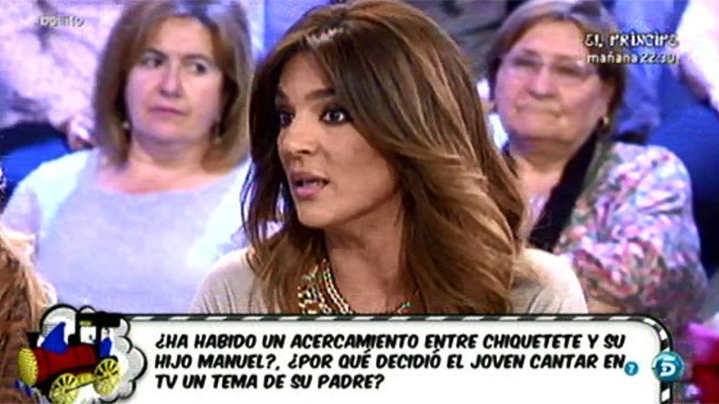 """Raquel: """"Para los que dicen que Manuel se aprovecha de Chiquetete, es su padre"""""""