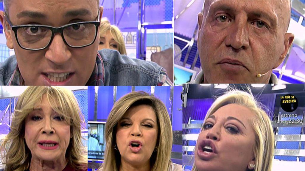 Los colaboradores de 'Sálvame' cargan contra Kiko Rivera por insultar a un periodista