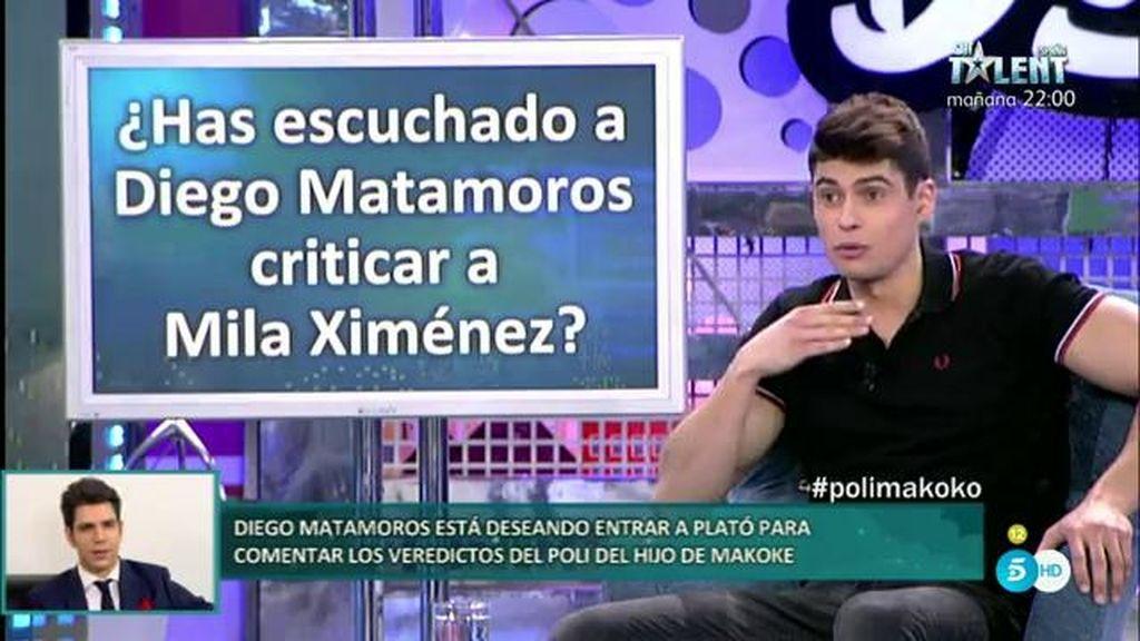 Javier Tudela ha escuchado a Diego Matamoros criticar a Mila Ximénez