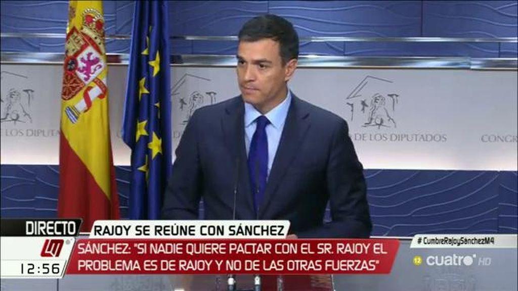 """Pedro Sánchez: """"Que se pongan de acuerdo las derechas, la izquierda no va a apoyar a la derecha"""""""