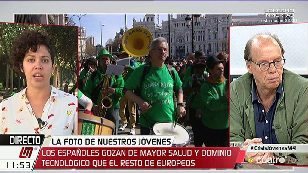 """Ana García, Sindicato de Estudiantes: """"La única opción es la rebelión en las calles"""""""