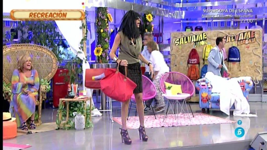 Paz Padilla y Kiko Hernández recrean el bolsazo de Jaqueline, pareja de Amador