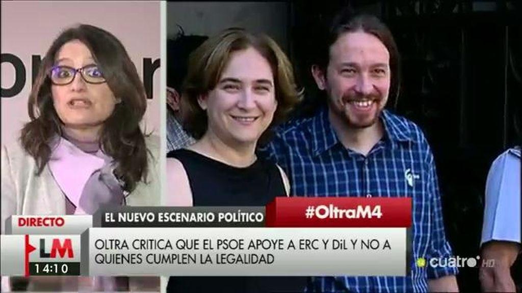 """Mónica Oltra: """"La legalidad es una excusa para atropellar nuestra candidatura"""""""