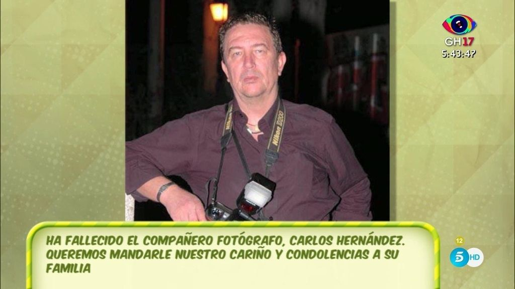Fallece el fotógrafo y compañero de profesión Carlos Hernández