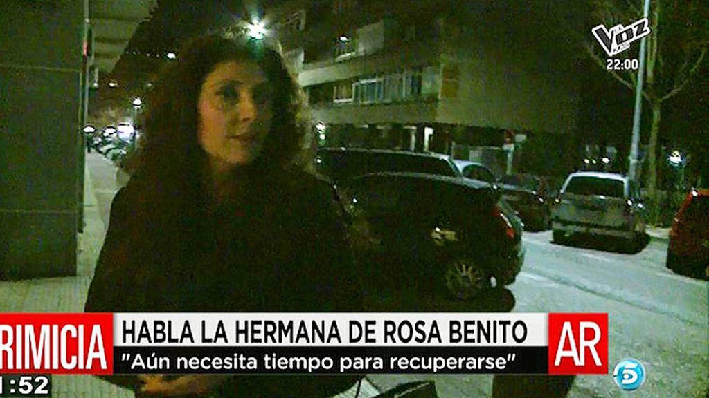"""Geles, la hermana de Rosa Benito: """"Se está recuperando pero necesita tiempo"""""""