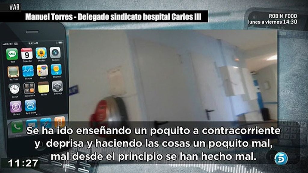 """Manuel Torres, sindicato del Carlos III: """"No se han hecho enseñanzas sobre estos pacientes"""""""