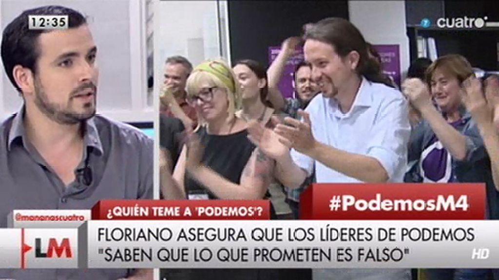 """A. Garzón (IU): """"Podemos no nos ha hecho daño, le habrá hecho a otros partidos"""""""