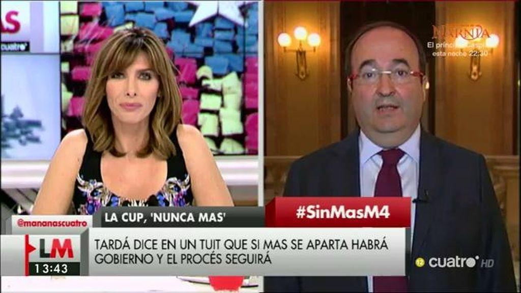 La entrevista a Miquel Iceta, a la carta