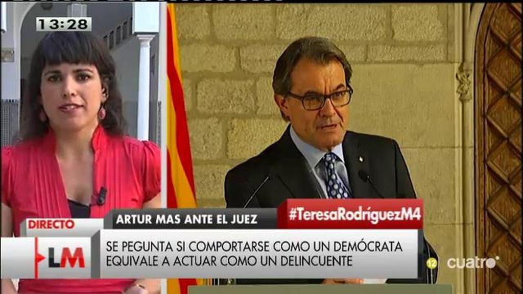 """Teresa Rodríguez: """"Al final, Rajoy le va a dar la presidencia a Mas"""""""