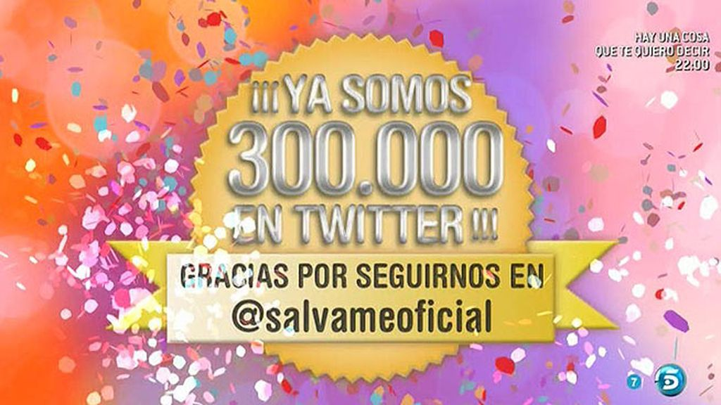 ¡Ya somos 300.000 seguidores en Twitter!
