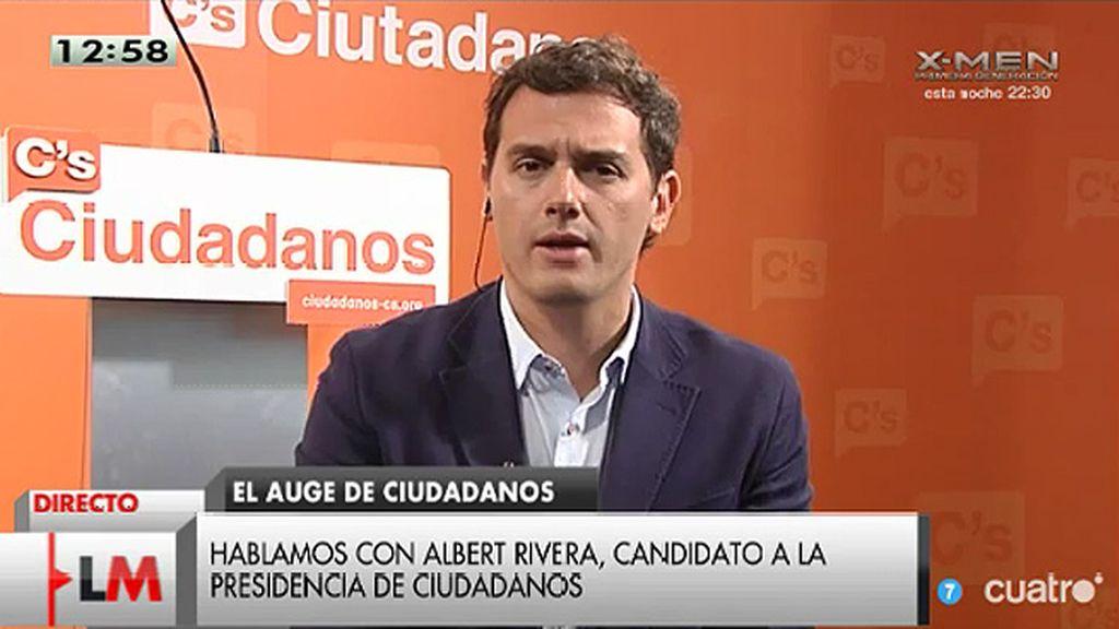 """Albert Rivera: """"No basta con que Griñán y Chaves se vayan, también tienen que firmar el pacto anticorrupción"""""""