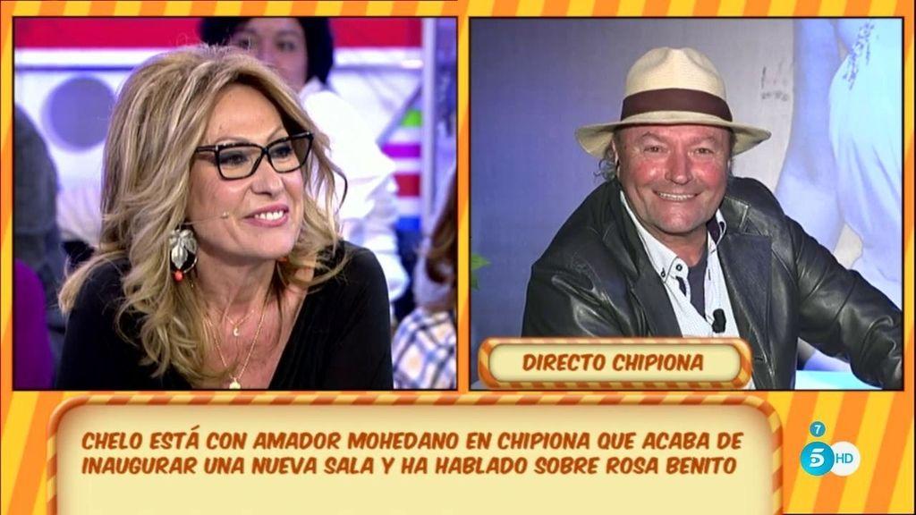 Rosa Benito y Amador vuelven a hablar en directo entre ironías, bromas y sonrisas