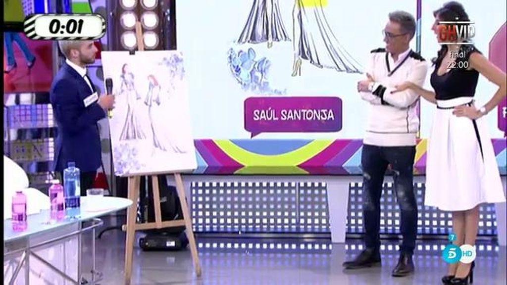 Paz Padilla lucirá el vestido 'camaleónico' de Saúl Santonja