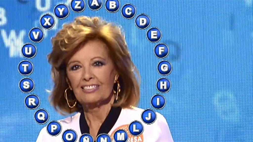Mª Teresa Campos, la nueva campeona de 'Pasapalabra', completa con éxito su rosco