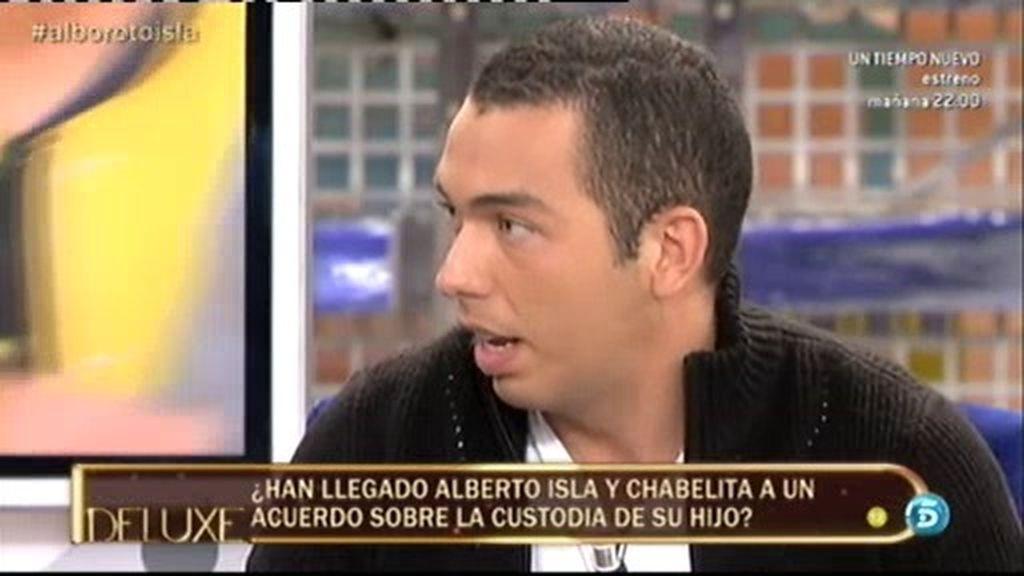 """Alberto, tras el juicio por la custodia de su hijo: """"No he sentido nada al ver a Chabelita"""""""