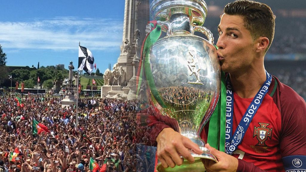 Así disfruta Cristiano Ronaldo de la celebración en Lisboa tras ganar la Eurocopa