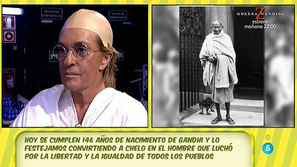 Chelo Gª Cortés homenajea a Gandhi
