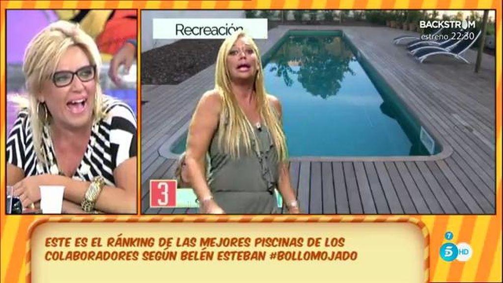 Belén Esteban presenta el ranking de piscinas de los colaboradores de 'Sálvame'