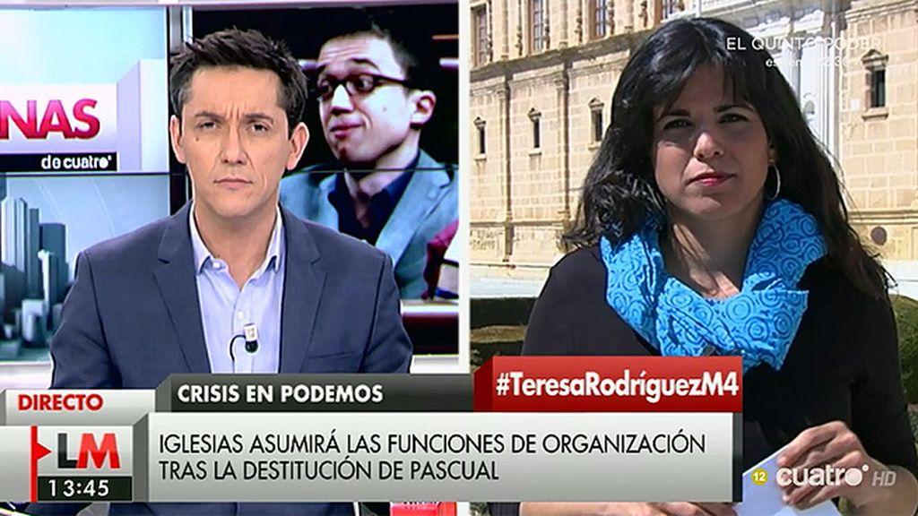 La entrevista de Teresa Rodríguez en 'Las Mañanas de Cuatro', a la carta