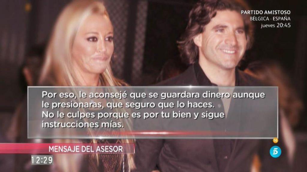 Antonio Rossi desvela el contenido del mensaje del asesor de Belén Esteban