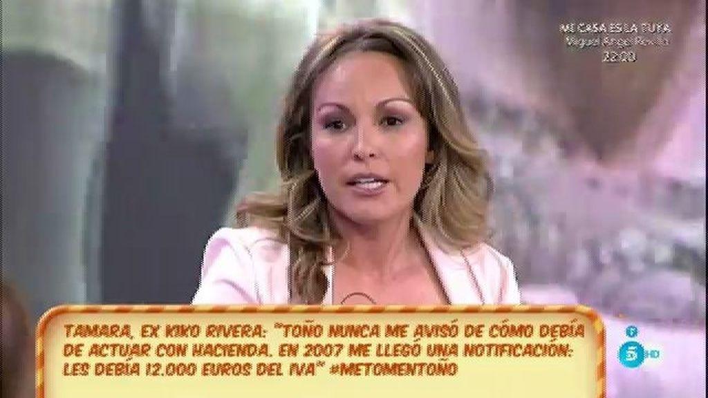 """Tamara, de Toño Sanchís: """"Él me abrió una cuenta en Valencia"""""""
