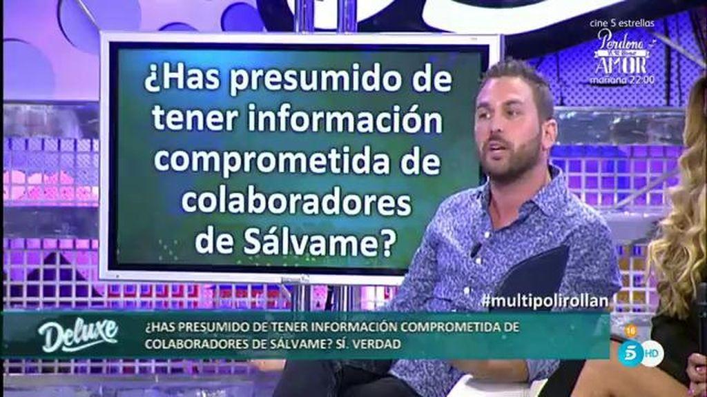 Jordi asegura haber ganado dinero gracias a las informaciones de un colaborador