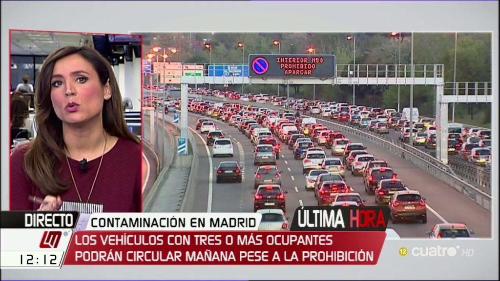 Escenario 3 en Madrid: sólo podrán circular los vehículos con matrícula impar