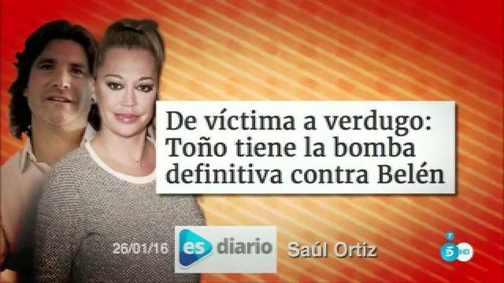 "Toño podría tener ""artillería pesada"" contra Belén Esteban, según Saúl Ortiz"