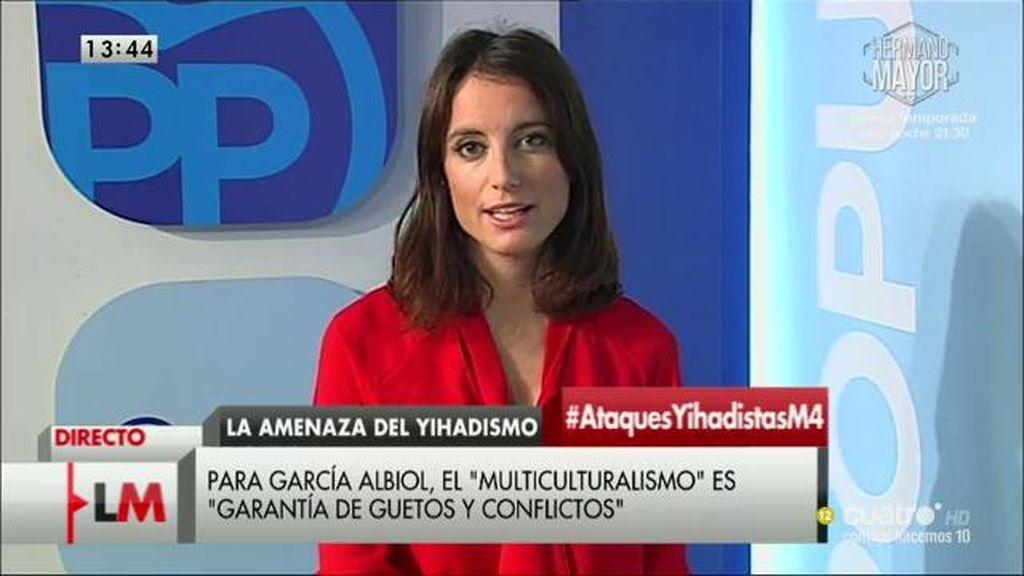 """Andrea Levy: """"Estamos a favor del pluralismo, el respeto y la tolerancia"""""""