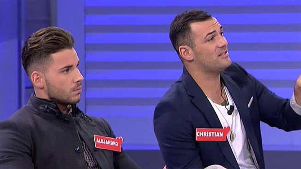 """Alejandro estalla contra Christian: """"Eres un falso y no te aguanto ni una más"""""""