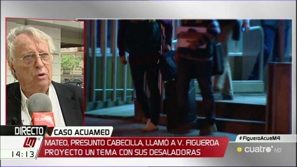 Alberto Vázquez – Figueroa declara como testigo en el caso Acuamed