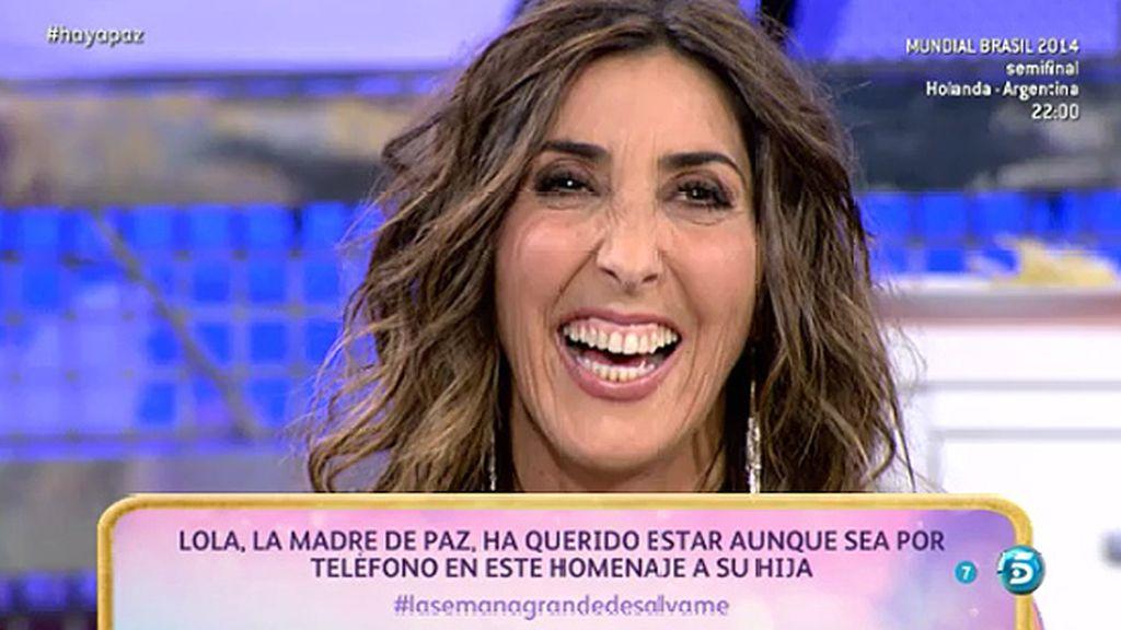 """La madre de Paz: """"Te quiero, quiero mucho a Telecinco y a todos, son mis amigos"""""""