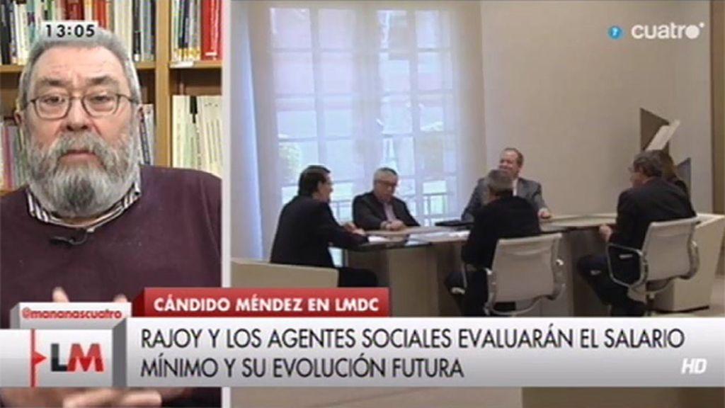 """Cándido Méndez, sobre Rajoy: """"Yo lo vi preocupado y nada triunfalista"""""""