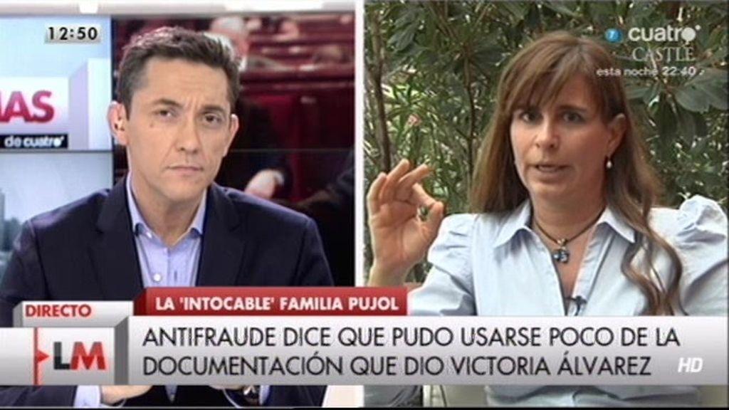 Victoria Álvarez responde a las acusaciones del director de la oficina antifraude