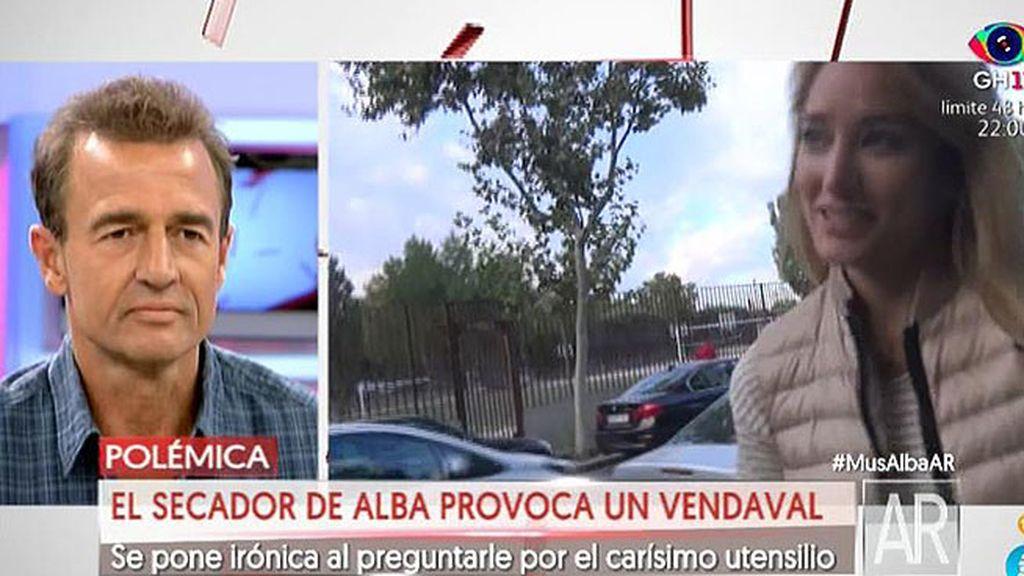 "Alba, sobre la polémica del secador: ""Me ha costado un montón levantarme"""