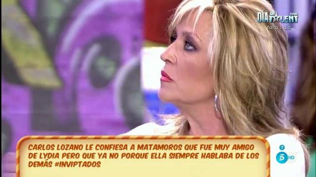 """Lydia Lozano, """"dolida"""" con las palabras de Carlos Lozano en 'GH VIP' sobre ella"""