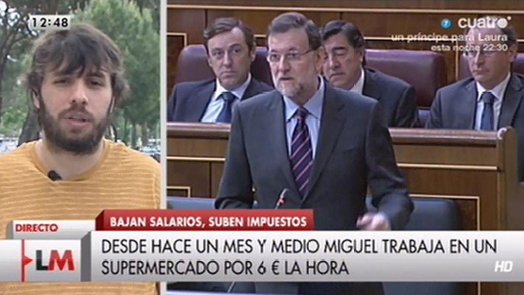 """Miguel: """"Encadeno trabajos temporales, cobro 500€, no depende de ser cenizo o no"""""""